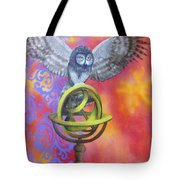 Owl And Star Map Tote Bag