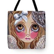 Owl Angel Tote Bag