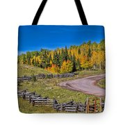 Owl Creek Pass Road Tote Bag