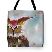 Owl Tote Bag by Holly Donohoe
