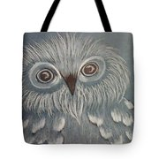Owl In The Blue Tote Bag by Ginny Youngblood