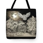 Owl In The Moonlight On Brush Mountain Tote Bag