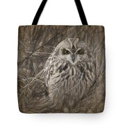 Owl In The Woods Tote Bag