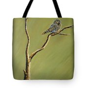 Owl On A Branch Tote Bag