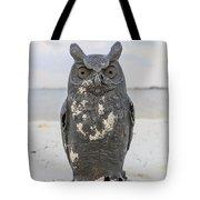 Owl On The Beach Tote Bag