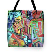 Owl Over Man Tribute Tote Bag