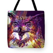 Owl The Female Eagle Owl Bird  Tote Bag