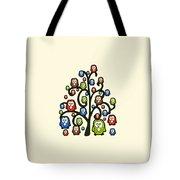 Owl Tree Tote Bag