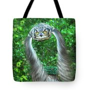 Owll In Flight Tote Bag