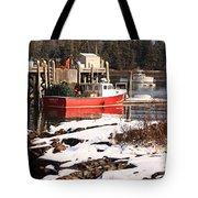 Owls Head Snow Tote Bag