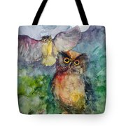 Owls In The Night... Tote Bag