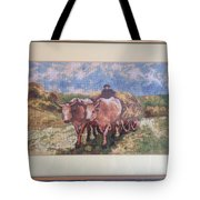 Oxcart After Nicolae Grigorescu Tote Bag