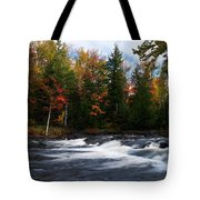 Oxtongue River Ontario Autumn Scenery Tote Bag