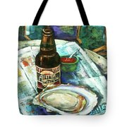 Oyster And Amber Tote Bag