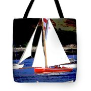 Oyster Boats Tote Bag