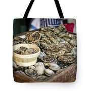Oysters At The Market Tote Bag