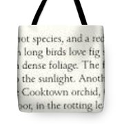 Oz Agls040 Tony Oliver 95 Double-eyed Fig Parrot Note Tony Oliver Tote Bag
