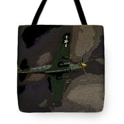 P 40 Warhawk In Action Tote Bag