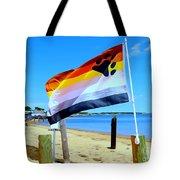 P Town Bear Flag Tote Bag