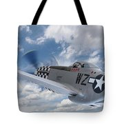 P51 In The Clouds Tote Bag