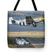 P51 Mustang Little Horse Gear Coming Up Friday At Reno Air Races 16x9 Aspect Signature Edition Tote Bag