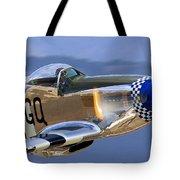 P51d Mustang At Salinas Tote Bag