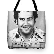 Pablo Escobar Mugshot Tote Bag