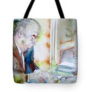 Pablo Neruda - Watercolor Portrait.8 Tote Bag