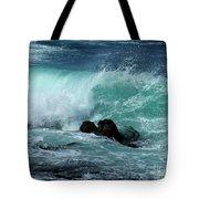 Pacific Coast Crashing Wave Photograph Tote Bag