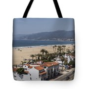Pacific Coast Highway Along Santa Monica Beach Tote Bag