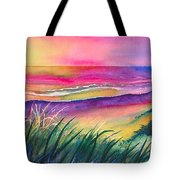 Pacific Evening Tote Bag by Karen Stark