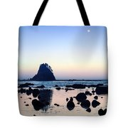 Pacific Moonset Tote Bag