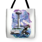 Pacific Northwest Montage  Tote Bag