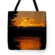 Pacific Northwest Sunset Tote Bag