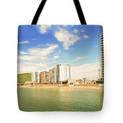 Pacific Ocean Beach In Salinas, Ecuador Tote Bag