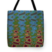 Pacific Ocean From Oregon Abstract Tote Bag