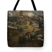 Packing Fish   St Ives Tote Bag