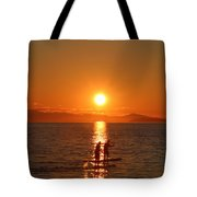 Paddle Boarders Tote Bag