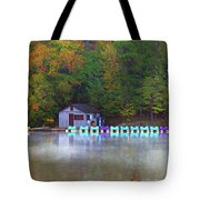 Paddle Boats On The Lake Tote Bag
