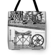 Paddle-driven Beam-engine Suction Pump Tote Bag