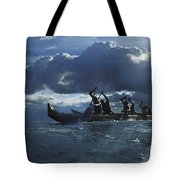 Paddlers At Sunset Tote Bag