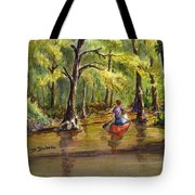 Paddling Into The Swamp Tote Bag