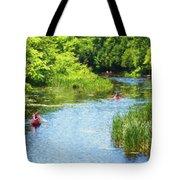 Paddling On A Calm Creek Tote Bag
