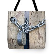 Padlock And Chain Tote Bag
