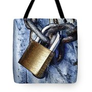 Padlock On A Chain Tote Bag