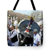 Padstow Blue Oss And Supporters Tote Bag