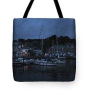 Padstow Harbor At Night Tote Bag