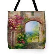 Paese In Toscana - Italy Tote Bag