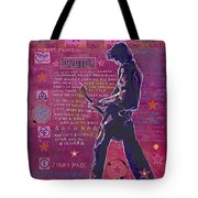 Page In Pink Tote Bag