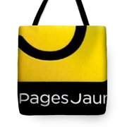 Pages Jaunes Tote Bag